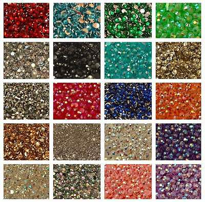 1000 Rhinestones Crystal Colours Flat Back Resin Diamante Gems Crafts Nail