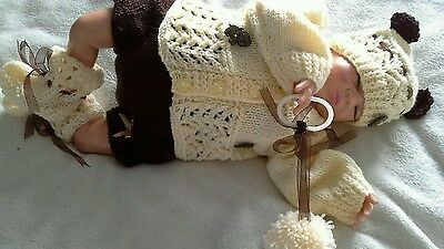 """mandys teddy romper set for your reborn doll or new born  20 """""""