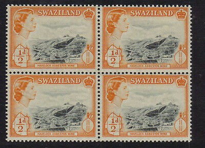 Swaziland Mint Never Hinged Mnh Block Of 4 1956 Havelock Mines Superb Quality