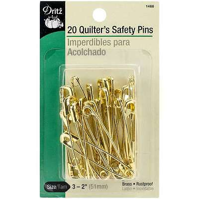 Quilters Safety Pins-Size 3 20/Pkg 072879104431