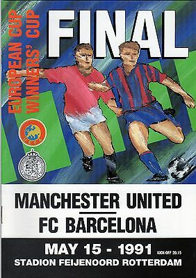 1991 European Cup Winners Cup Final Barcelona V Manchester United