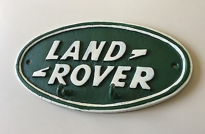 Land Rover Green Advertising Dealership Display Sign Cast Iron With 2 Key Hooks