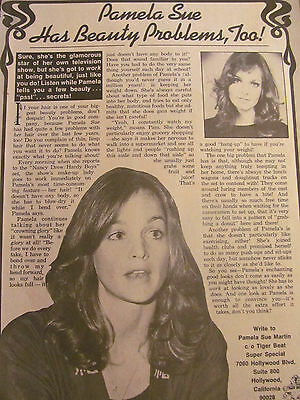 Pamela Sue Martin, Nancy Drew, Full Page Vintage Clipping