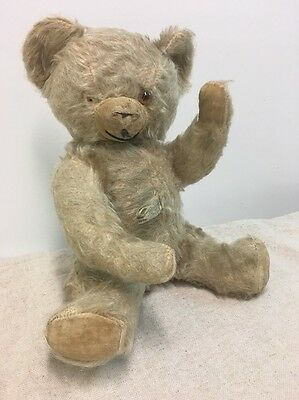 1950 Antique Vintage Jointed Mohair Teddy Bear early Knickerbocker Tagged!