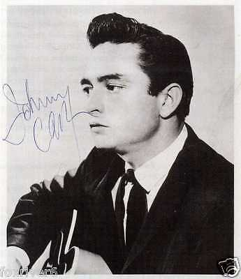 JOHNNY CASH Signed Photograph - Film Star / Country Singer & Actor