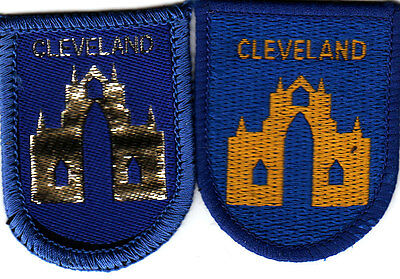 Boy Scout Badges CLEVELAND County gold+silver