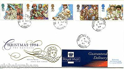 1994 Xmas Great Britain Royal Mail Illus. Fdc Angel Hill C.d.s. Pmks