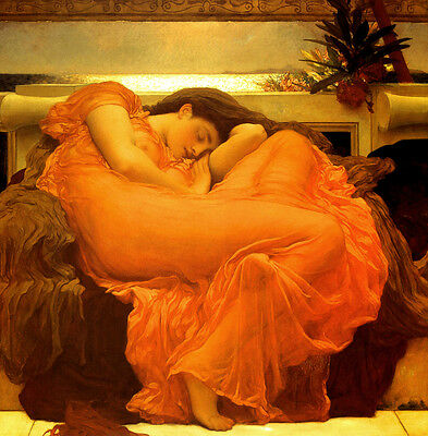 Lord Frederic Leighton :: Flaming June :: 24 Inch Large Canvas Fine Art Print
