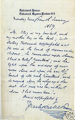 CHARLES DICKENS Autographed Letter - Author / Writer - Literature - preprint