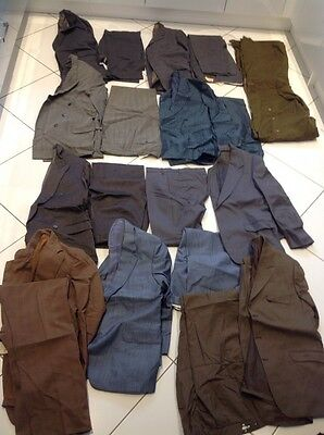 Vintage Joblot Mens Wool Suits Jackets X 10 Blue Brown Grey # Lot 1
