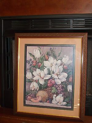 Large Home Interior Homco Magnolia And Fruit By Barbara Mock Fine Art Picture