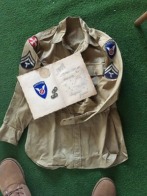 11th Airborne 408th Quartermaster Co Grouping Shirt Scrapbook And More