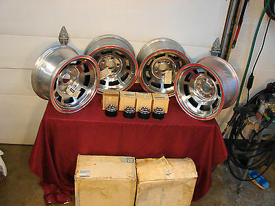 78 Corvette Pace Car Nos Gm Aluminum Mag Wheels W/ Center Caps