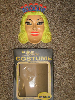 Vintage Ben Cooper Fairy Princess Halloween Mask + Box, Glow in Dark, no Costume