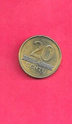Lithuania Km107 2009 Unc-Uncirculated 20 Centu  Mint Coin