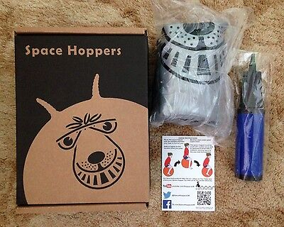 66CM Adult Retro Giant Space Hopper Silver - Brand New In Box