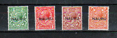 Nauru 1916-22 Set Of 4 Values, Surcharged, Type 2.  Mint