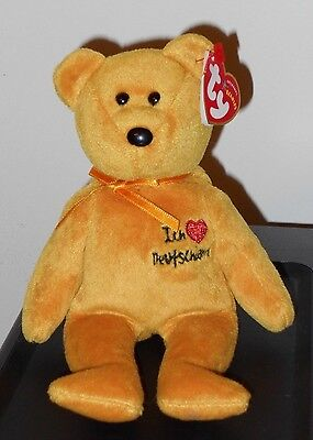 NMT* Ty Beanie Baby ~ FRIEDRICH the Love Deutschland Bear ~ Germany Excl ~ MWNMT
