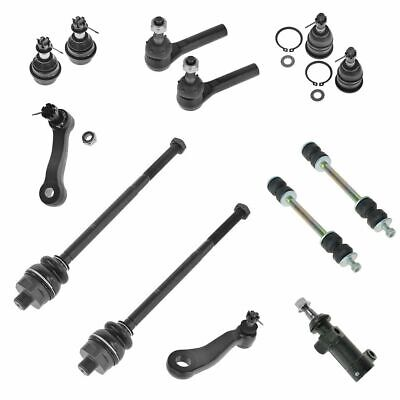 Ball Joint Tie Rod Sway Bar Link Idler Pitman Arm Steering Suspension Kit 13pc