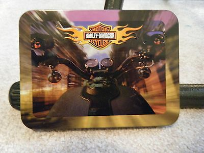 Harley Davidson Collector Tin With 2 Sealed Decks Of Playing Cards 2002 New