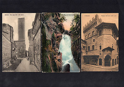 Italy Italiana 1916 & 1921 Three Real Old View Postcards With Cds Postmarks