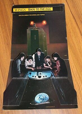 Paul McCartney & Wings - 1979 Unused Back to the Egg 3D Promo Display Stand Up