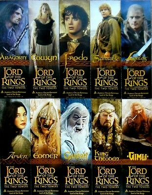 The Lord of Rings Legolas Two Towers promo bookmark set bookmarks TTT LOTR rare