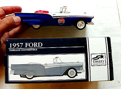 "1995 Liberty ""pepsi-Cola"" 1957 Ford Fairlane Convertible #56004 With Bank"