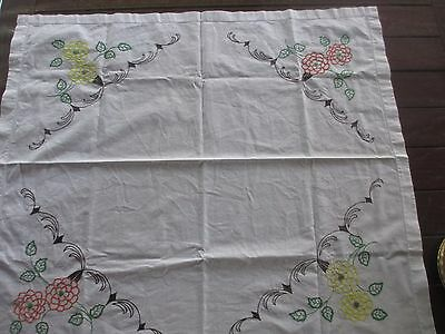 *****Vintage hand  Embroidered,Supper  Tablecloth GORGEOUS****