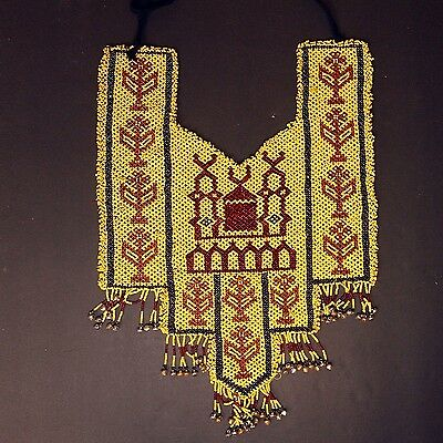 BellyDance ATS Costume Beaded NECKLACE Kuchi Tribal 809b5