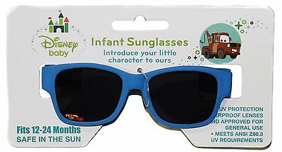 DISNEY CARS Sunglasses LIGHTNING MCQUEEN 100% UV Protection BLUE Baby/Infant NEW