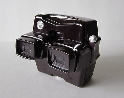 View-Master RESTORED Brown Color Model D Focusing LED Lighted Viewer MINT + BOX
