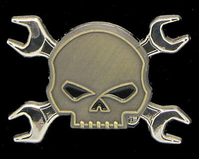 Harley Davidson Willie G Skull With Wrench Cross Bones Vest Jacket Pin