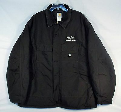 Southwest Airlines Black Carhartt size 3XL COAT Insulated Jacket Heavy Duty