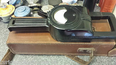 VINTAGE FERRANTI, BAKELITE, CLIP ON AMMETER, 'D67700' 1000volt  + LEATHER CASE