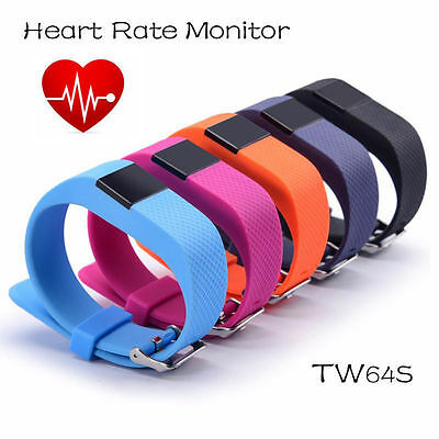 Bluetooth Smart Watch TW64S Fitness Health Bracelet Heart Rate Pedometer Tracker