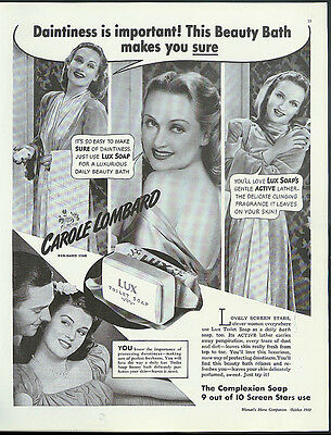Carole Lombard says daintiness is important Lux Toilet Soap ad 1940