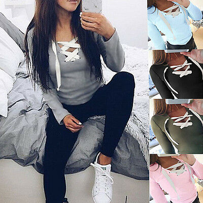 New Fashion Womens Loose Long Sleeve Tops Blouse Shirt Casual Cotton T-Shirt
