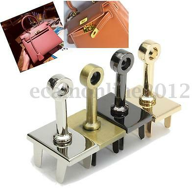 Metal Square Retro Clasp Turn Lock Twist Lock for DIY Handbag Bag Purse Hardware