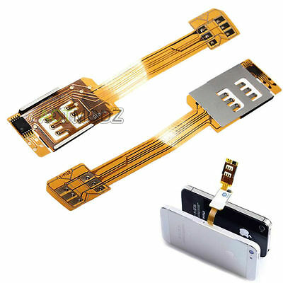 Double Dual SIM Card Phone Adapter Converter for Apple iPhone 5 5S 6 6S Plus New