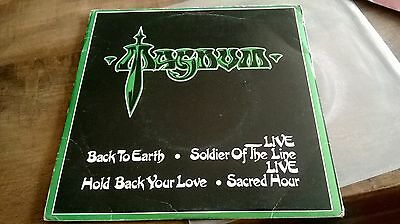 """Magnum - Back To Earth 2 X 7"""" Single Nwobhm 1982"""