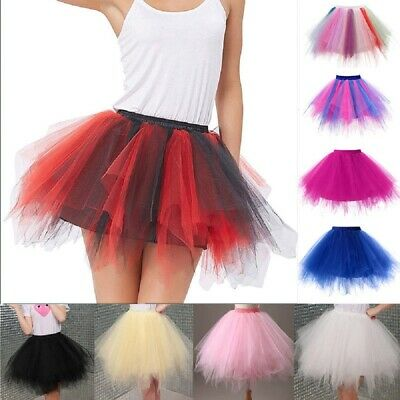 Fashion Women Adults Teens Girls Ballet Dance Party 4 Layered Tulle Tutu Skirt