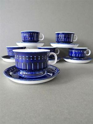 Vintage Arabia Finland Valencia Demitasse 6 Cups Saucers Set by Ulla Procope