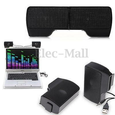 Portable Mini Clip-on USB Music Speaker Player Controller for Laptop Notebook PC