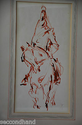 ORIGINAL  INK DRAWING SIGNED  MONOGRAM , ORIENTALIST  serious offers are welcom
