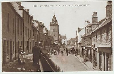 High Street from E.,South Queensferry in 1905: Old PPC, Published 1927, Unused.