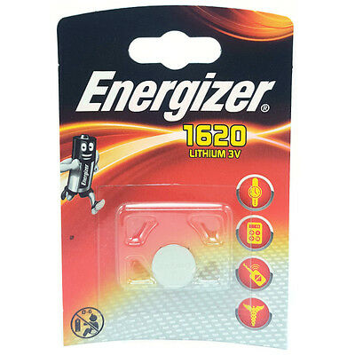 1 x Energizer CR1620 1620 3V Lithium Coin Cell Battery