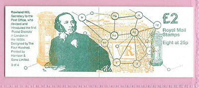 GB 1995 - £2 BOOKLET FW6 - ROWLAND HILL Centenary - 3 of 4 - Cyl. B4 - Mint MNH