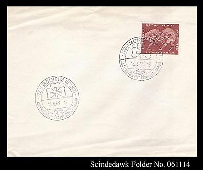 Germany - 1961 Girl Scout Cover With Special Cancl. With Olympics Stamp