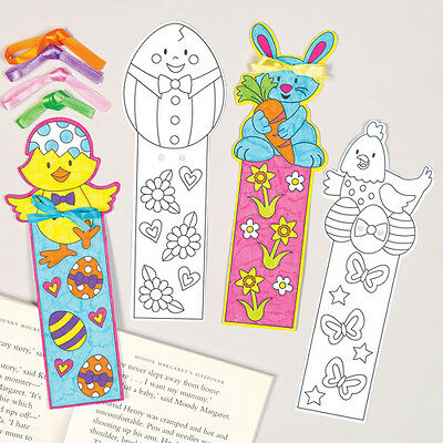 12 Easter Colour-in Bookmarks for Children to Make - Creative Craft Set for Kids
